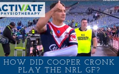How did Cooper Cronk play the NRL Grand Final with a broken shoulder?