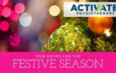 Festive Season Hours